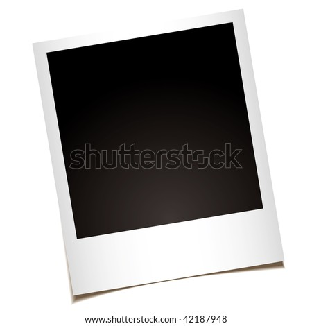 single instant photo with black space with room to add your own image - stock photo