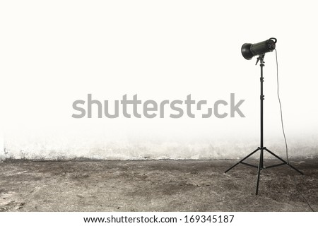 single lamp  - stock photo
