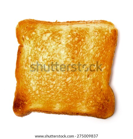 Single Loaf Toast, on white background - stock photo