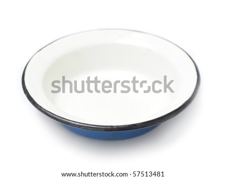 Single plate isolated over white - stock photo