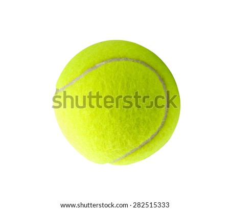 Single tennis ball - stock photo