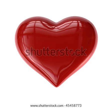 Single Valentine's Heart (Candy-like) - stock photo