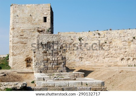 Sinop Castle. At the tip of the Black Sea in Turkey. - stock photo