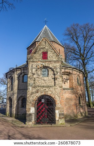 Sint Nicolaas church in the Valkhof park in Nijmegen, Netherlands - stock photo