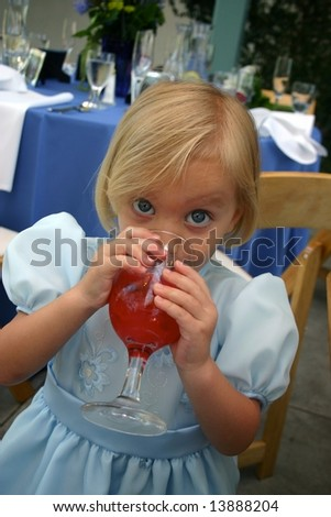 Sip of Red Punch - stock photo