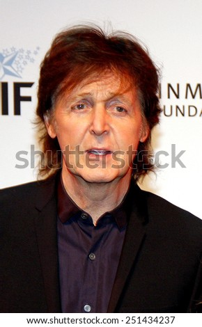 Sir Paul McCartney at the 23rd. Annual Simply Shakespeare held at the Broad Stage in Santa Monica, California, United States on September 25, 2013.  - stock photo