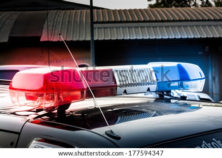 siren on police car - stock photo