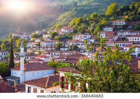 Sirince village, Izmir Province, Turkey - stock photo