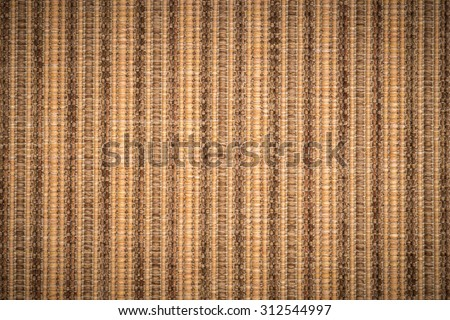 Sisal carpet background with dark vignette - stock photo