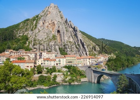 Sisteron in Provence, France  - stock photo