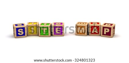 Site Map Play Cubes - stock photo