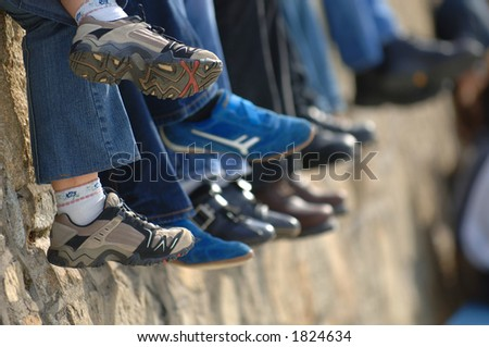 Sitting around and relaxing - stock photo