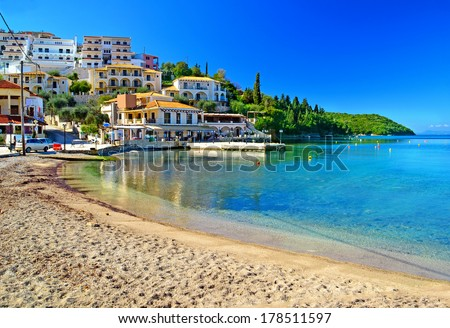 Sivota town Greece - stock photo
