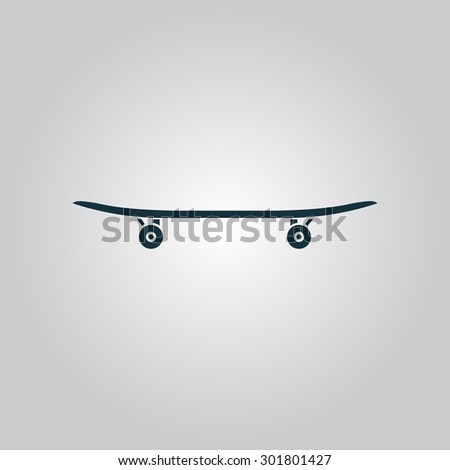 Skateboard. Flat web icon or sign isolated on grey background. Collection modern trend concept design style  illustration symbol - stock photo