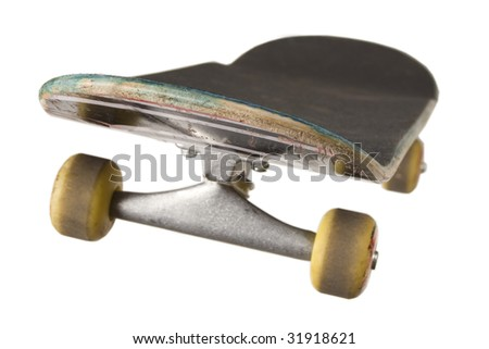 Skateboard isolated on white background - stock photo