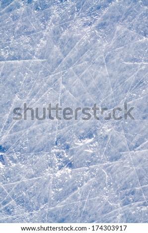 Skated on Ice Surface background  - stock photo
