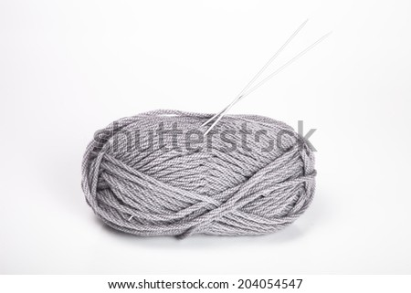 skein of wool yarn - stock photo