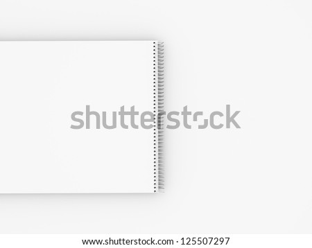Sketch book isolated on white background - stock photo