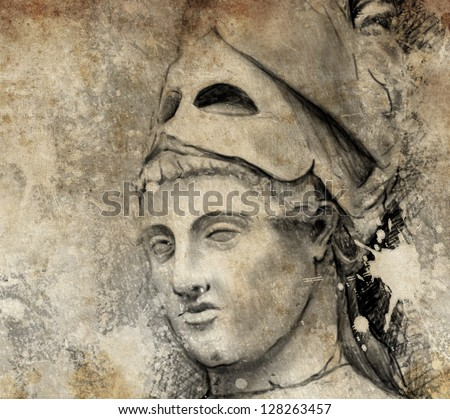 Sketch made with digital tablet of general pericles - stock photo