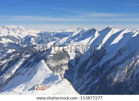 Ski resort of Kaprun, Kitzsteinhorn glacier. Austria - stock photo