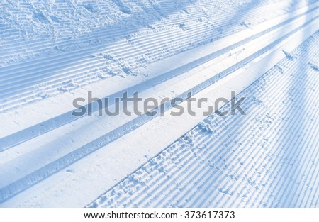 ski track, abstract background                                - stock photo