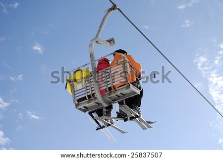 Ski Vacation with friends - stock photo