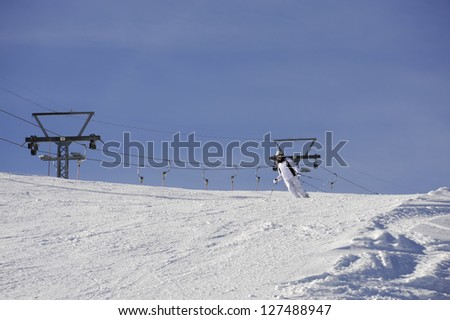 skier with - stock photo