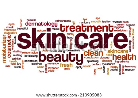 Skin care concept word cloud background - stock photo
