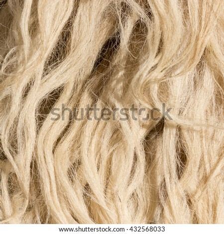 Skin of a sheep - stock photo