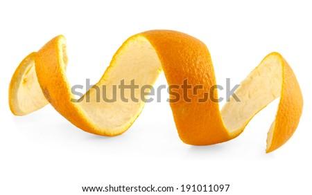 skin orange on a white background - stock photo