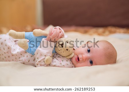 Skin rashes from overheating in the newborn - stock photo