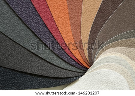 skin samples in a variety of colors - stock photo