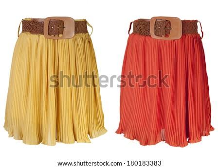 Skirt isolated on white background - stock photo