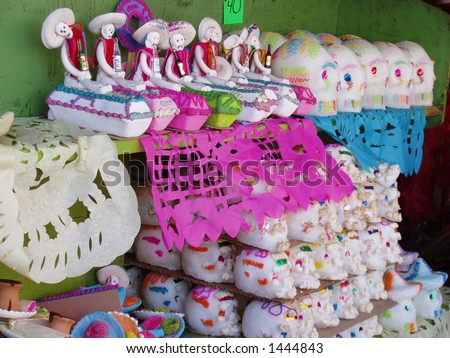 Skulls at Day of the Dead - stock photo