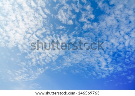 sky and a cloud in Thailand - stock photo