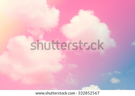 sky and cloud background with a pastel coloured  - stock photo