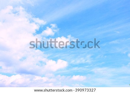 Sky and clouds with space for your own text - stock photo