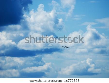 sky and flight - stock photo