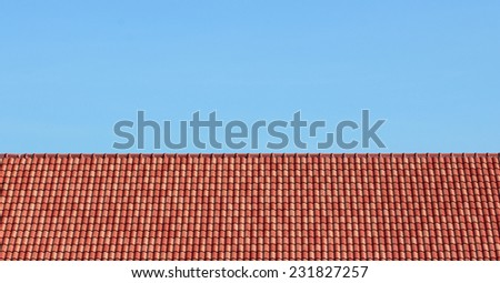 sky and roof at home in thailand - stock photo