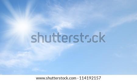 Sky and sun - stock photo