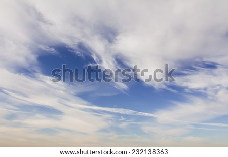 Sky at the afternoon - stock photo