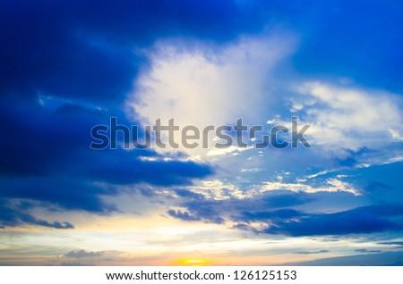 sky background on a sunrise - stock photo
