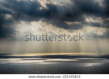 Sky background on sunrise nature composition. HDR image - stock photo