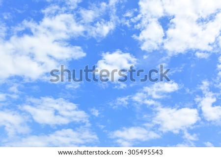 Sky background - only clouds in the blue sky - stock photo