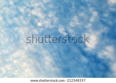 sky beautiful clouds at sunrise - stock photo