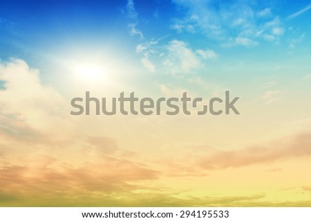 Sky beauty background. Clear summer air - stock photo