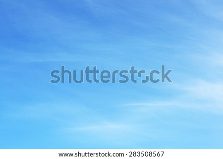 Sky blank fluffy surface, side view - stock photo