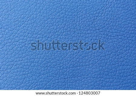 Sky-Blue Artificial Leather Texture - stock photo