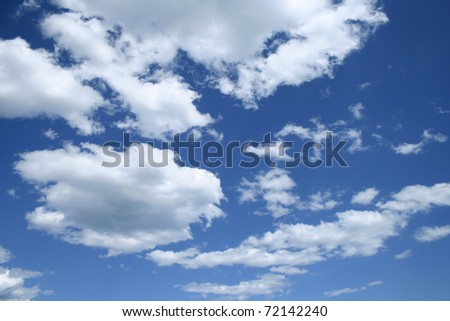 sky + clouds - stock photo
