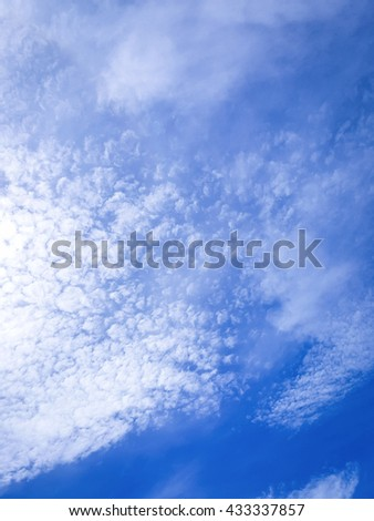 Sky clouds backgrounds - stock photo